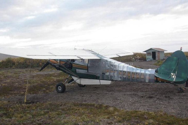 plane repaired with duct tape