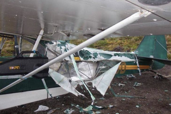 plane wreck in bear country